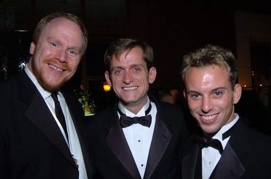 CP's Bill Pritchard with Stacy Bridges of Gay Chicago Magazine and Jason