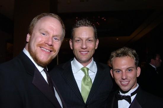 Bill Pritchard with Matthew Harvat and Jason