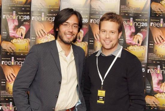 ChicagoPride.com's Daniel Ortiz with actor Brad Rowe