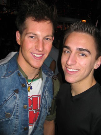 Lawrence and Aaron at Sidetrack