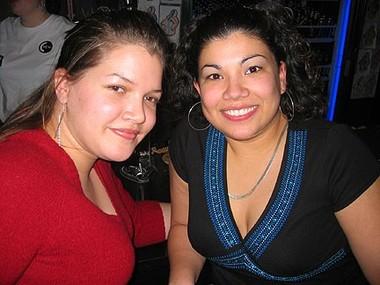 Natalie and Bridget at Crew