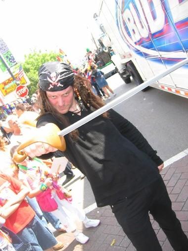DJ Greg Haus in the Parade