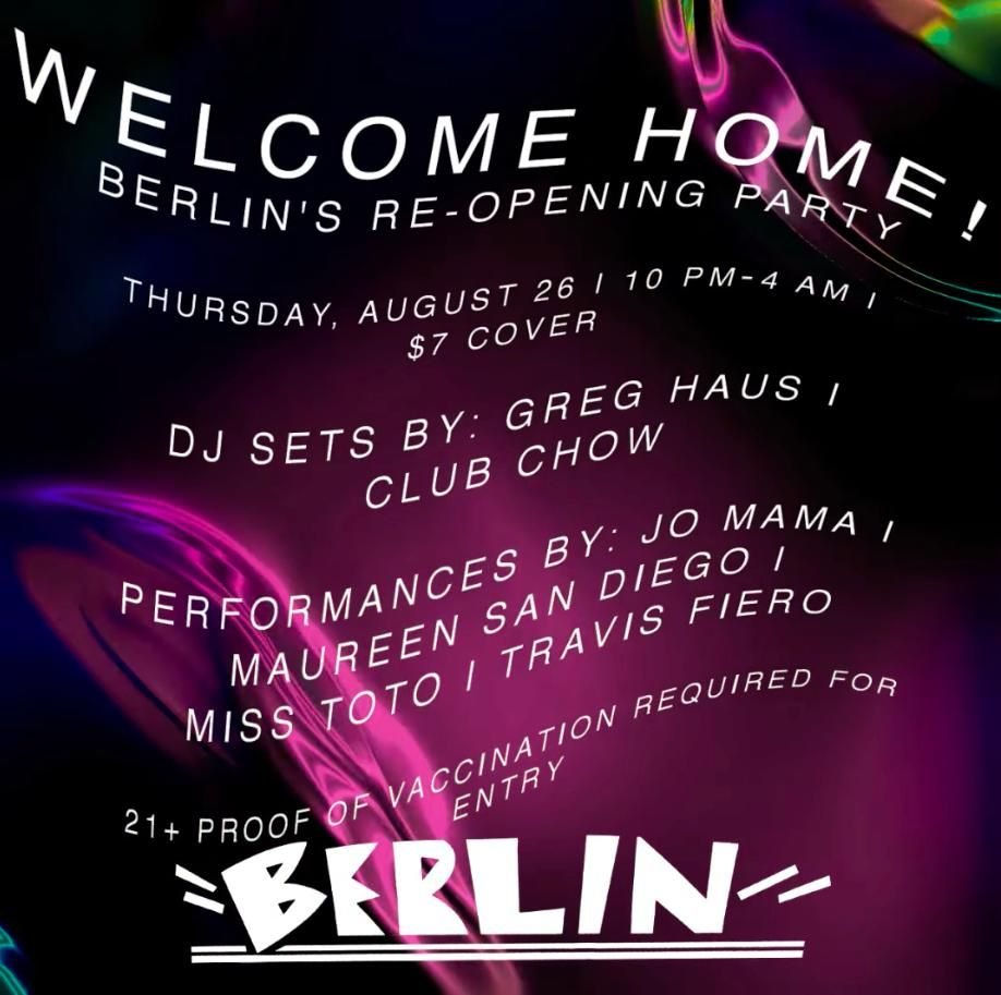Welcome Home - The Berlin Reopening Party