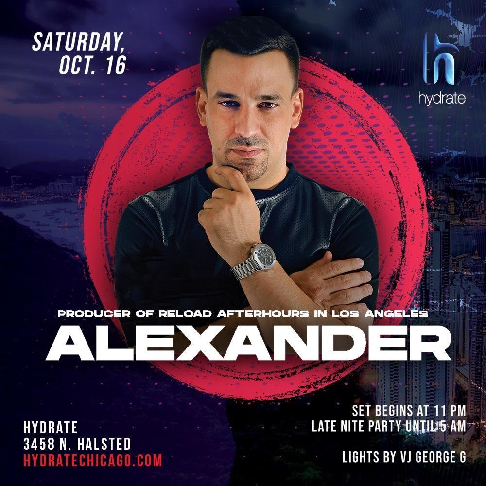 DJ Alexander at Hydrate
